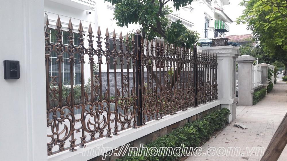 Hàng rào nhôm đúc đẹp nhất năm 2017, hàng rào nhôm đúc đẹp, Hàng rào nhôm đúc không bị oxi hóa, bền