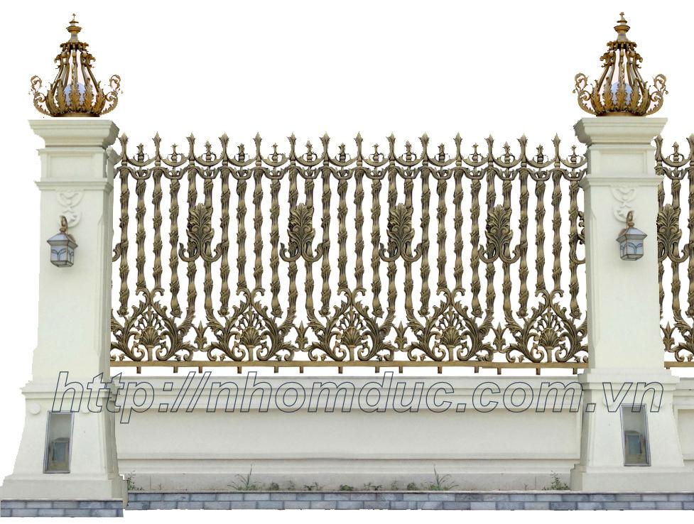 Báo giá hàng rào nhôm đúc, giá hàng rào nhôm đúc