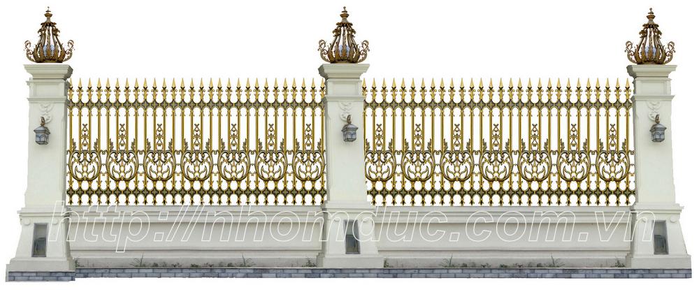 các mẫu hàng rào nhôm đúc chỉ từ 4 triệu hàng rào đơn giản đến hàng rào phức tạp với giá 10 triệu