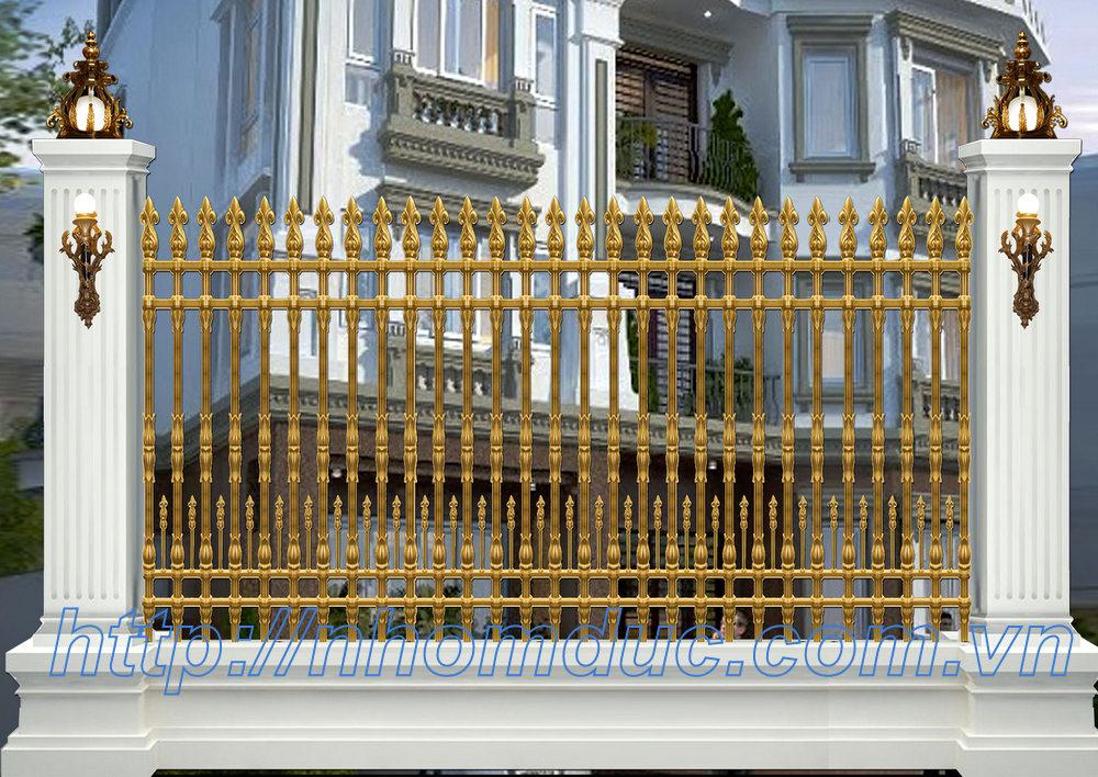 Báo giá hàng rào nhôm đúc hợp kim, hàng rào nhôm đúc đơn giản