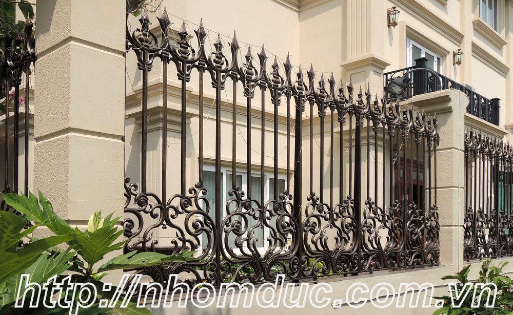 15 mẫu hàng rào hợp kim nhôm đẹp