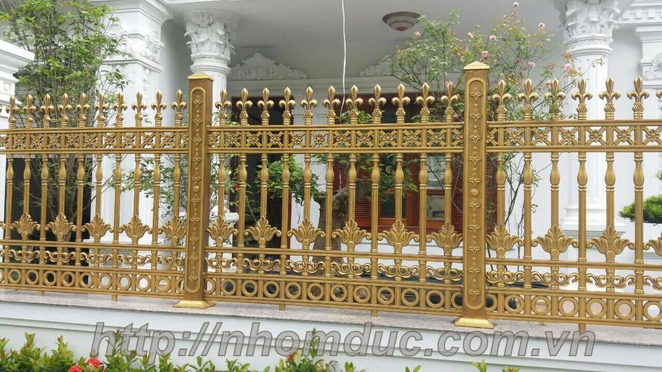 Mẫu hàng rào hợp kim nhôm đúc đẹp