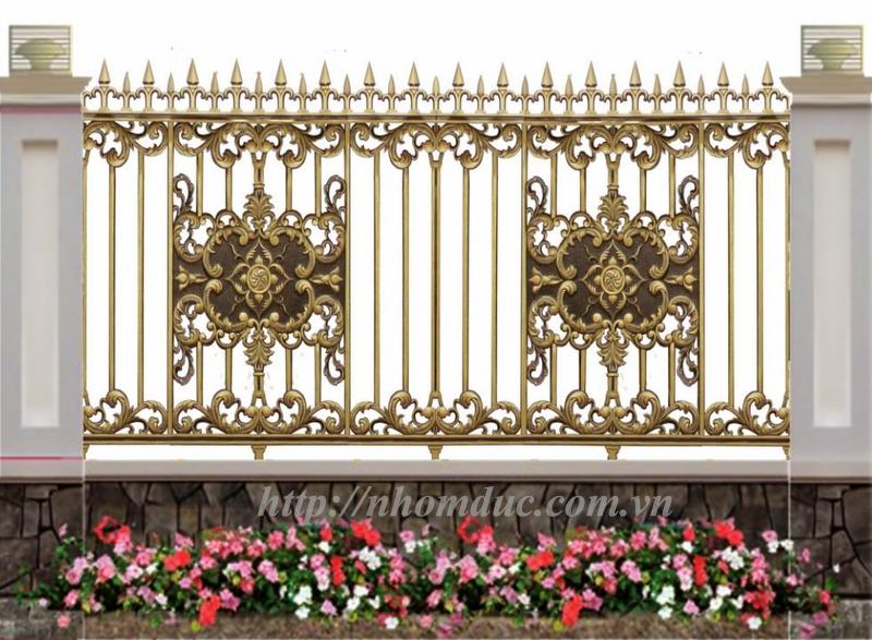 Mẫu hàng rào nhôm đúc giá rẻ