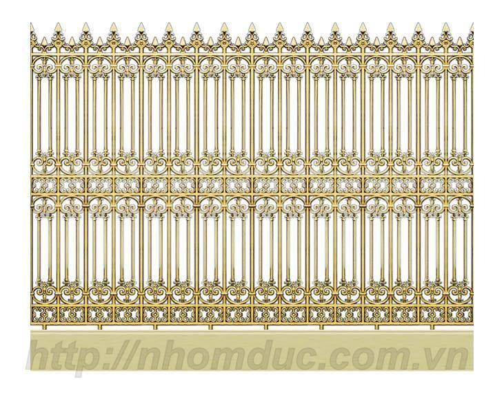 hàng rào nhôm