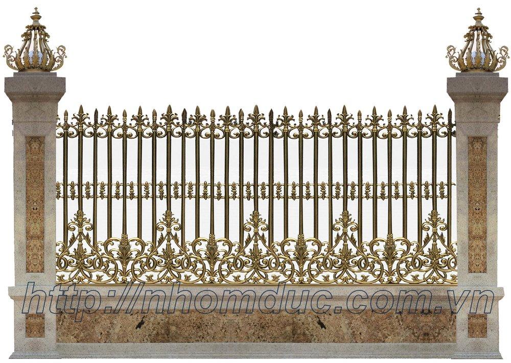 Báo giá hàng rào hợp kim, Hàng rào hợp kim nhôm đúc