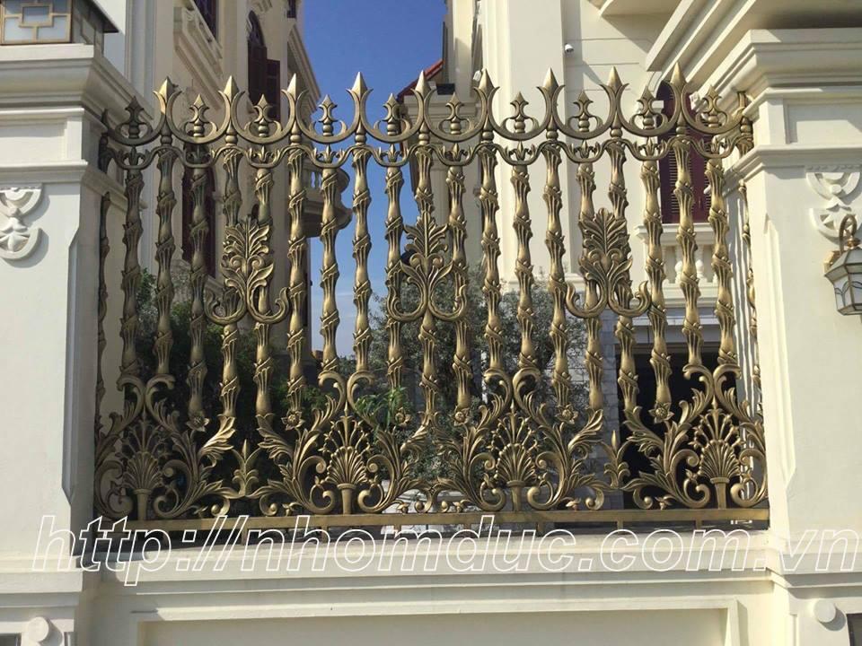 Hàng rào nhôm đúc đẹp, sang trọng