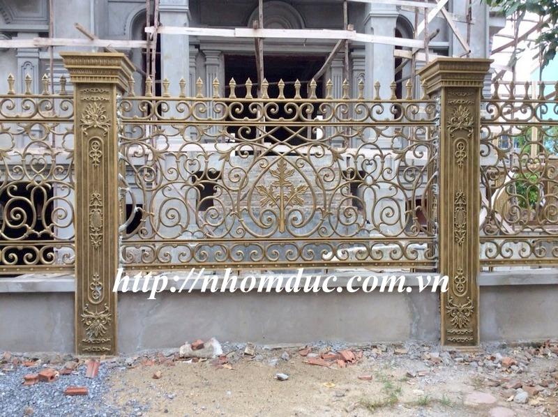 Hàng rào nhôm đúc cho Biệt thự nhà vườn