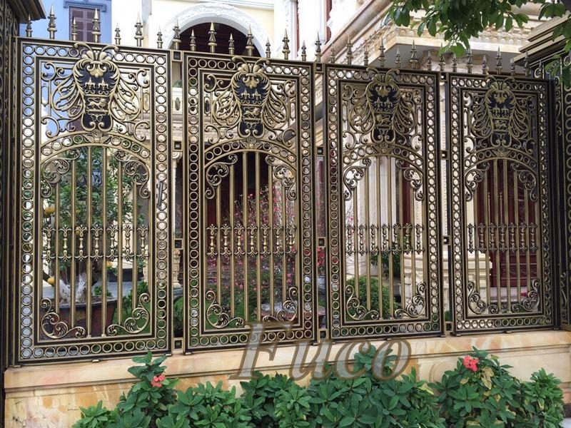 Thiết kế và thi công hàng rào hợp kim nhôm đúc