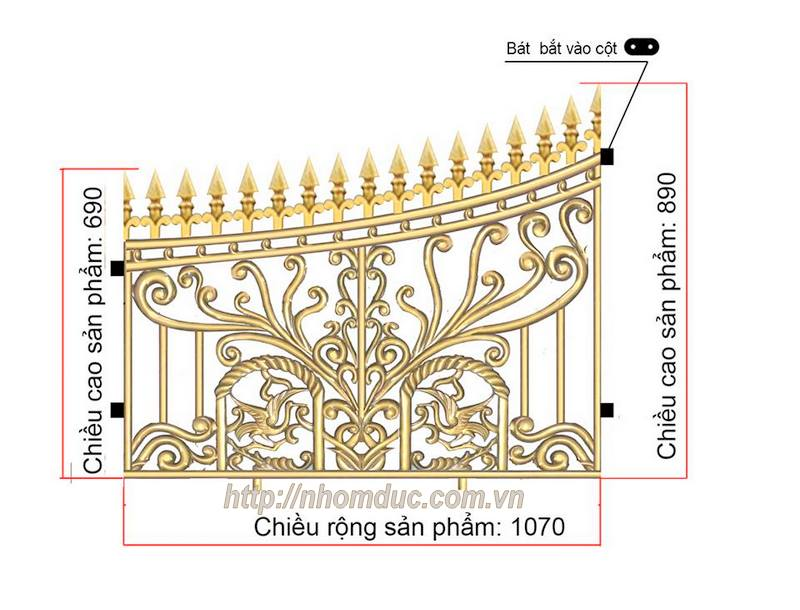 Báo giá lan can, hàng rào, cầu thang nhôm đúc