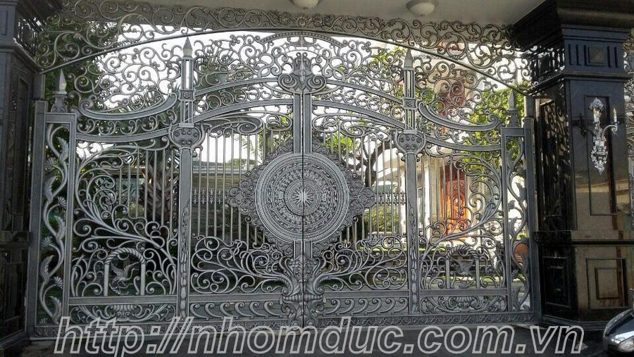 Cổng nhôm đúc GAT 168, cửa nhôm đúc hà nội