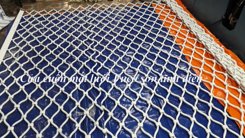 Cửa cuốn lưới mắc võng sơn tĩnh điện, cửa cuốn lưới mắt cáo inox