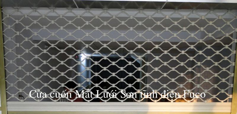 Cửa cuốn Lưới sơn tĩnh điện, cửa cuốn mắt võng được sơn bởi công nghệ sơn tĩnh điện cao cấp.