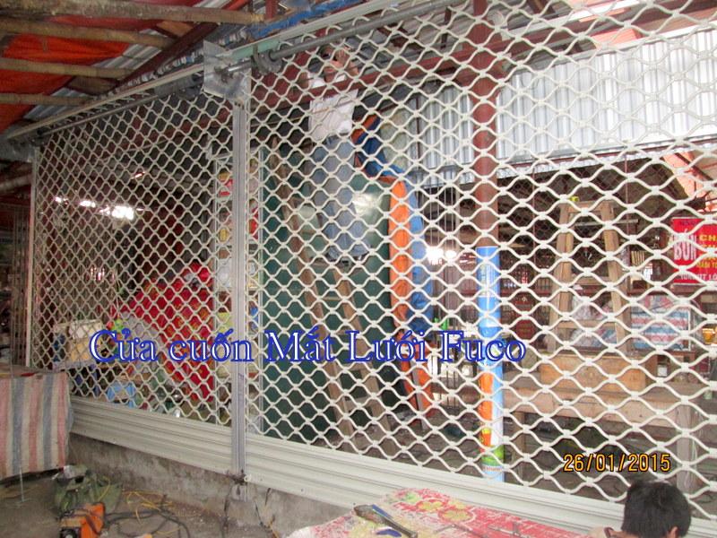 Cửa cuốn Lưới sơn tĩnh điện, cửa cuốn mắt lưới Fuco