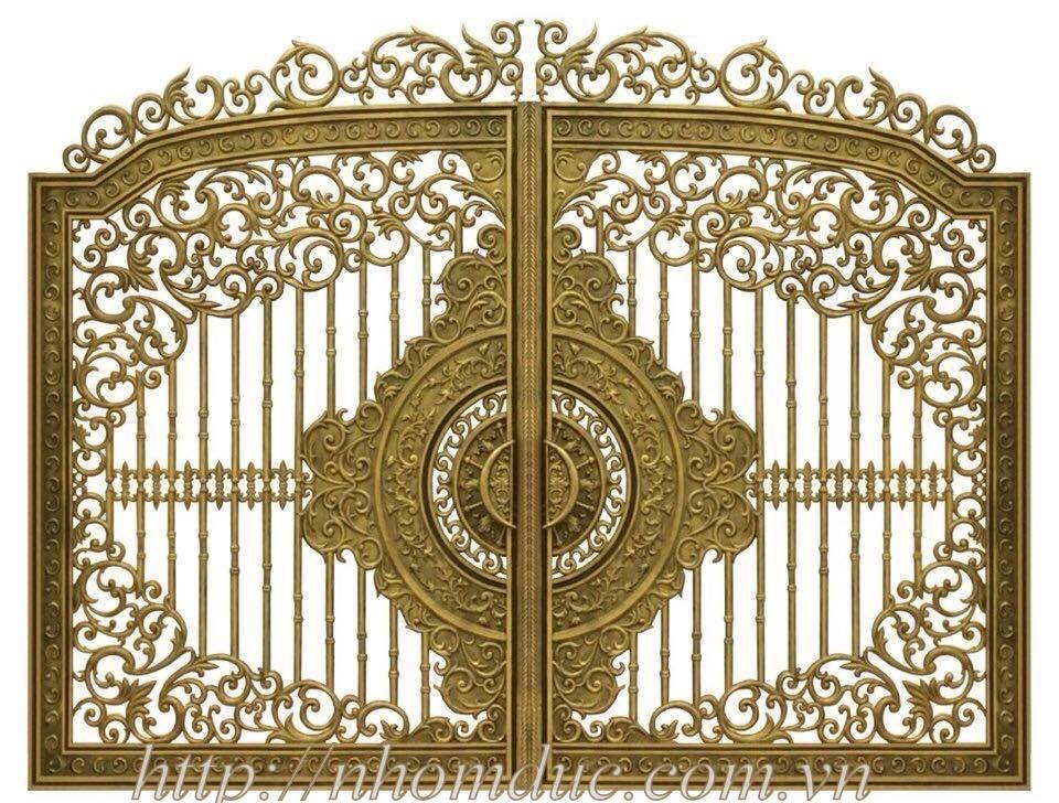 cửa cổng nhôm đúc chất lượng giá cả thích hợp