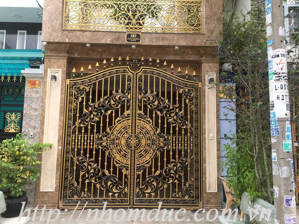 cổng nhôm hợp kim  Nha Trang,cổng nhôm hợp kim  Cam Ranh, lắp cổng nhôm đúc Fuco Ninh Hòa