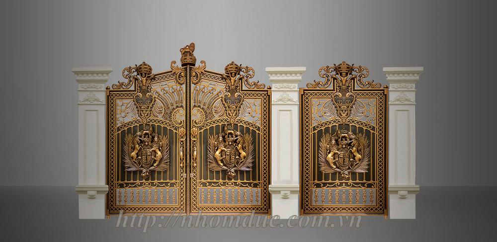 cửa cổng đúc hợp kim nhôm, cổng nhôm đúc hợp kim, cổng nhôm đúc, cửa nhôm