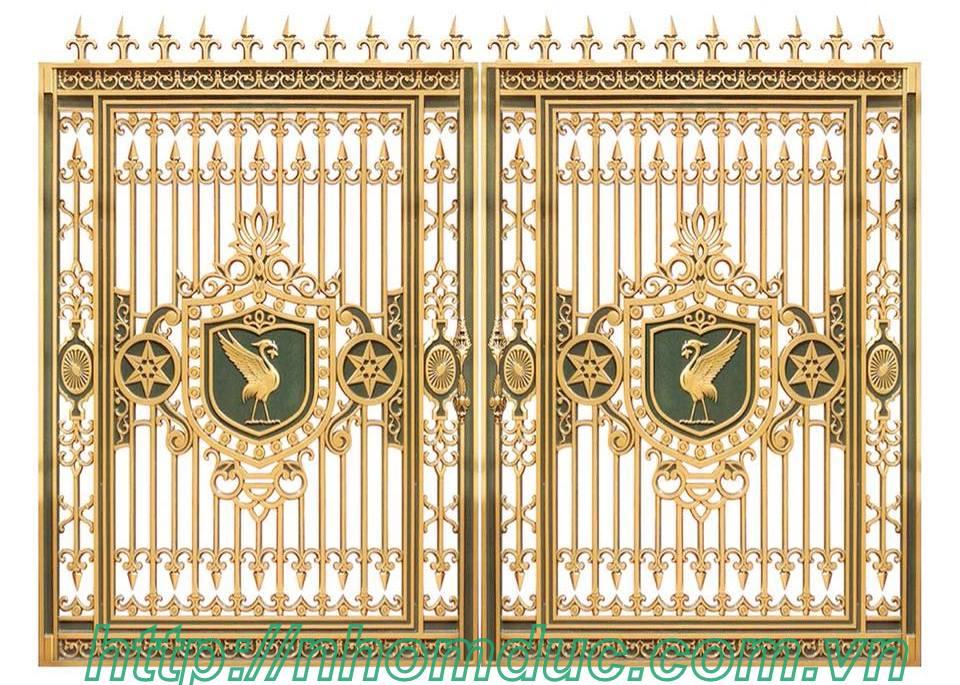 Mẫu cửa cổng đúc hợp kim nhôm năm 2018