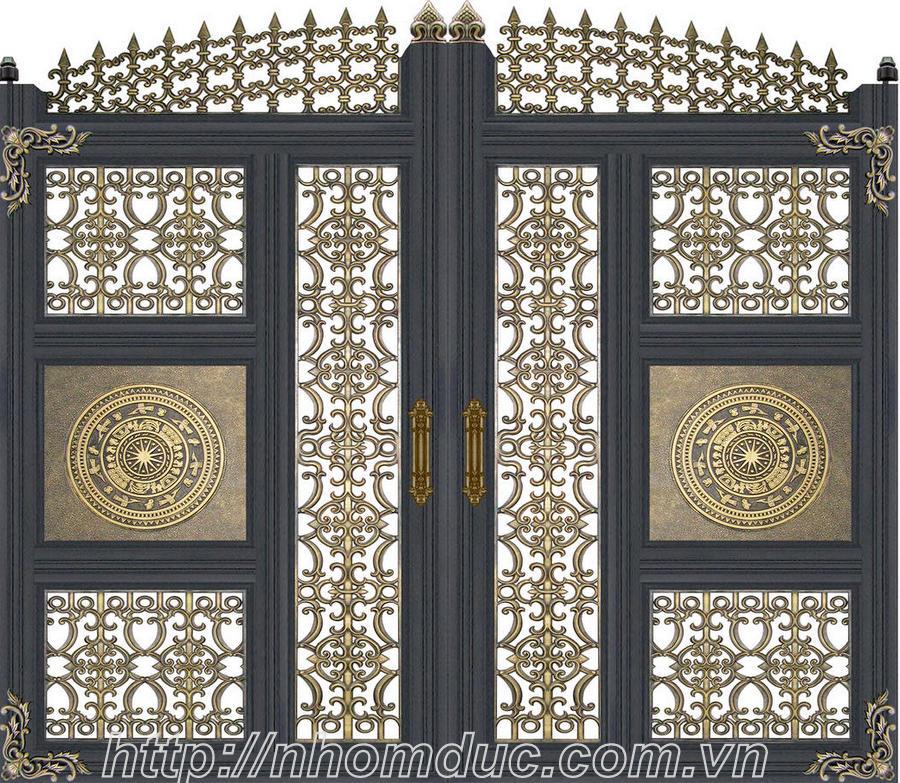 cổng nhôm đúc đẹp sang trọng và đẳng cấp, với nhiều mẫu thiết kế sẵn và các mẫu theo ý tưởng