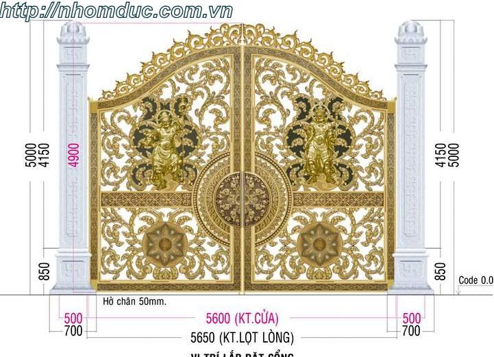 Cổng nhôm đúc mang đến thiết kế sang trọng