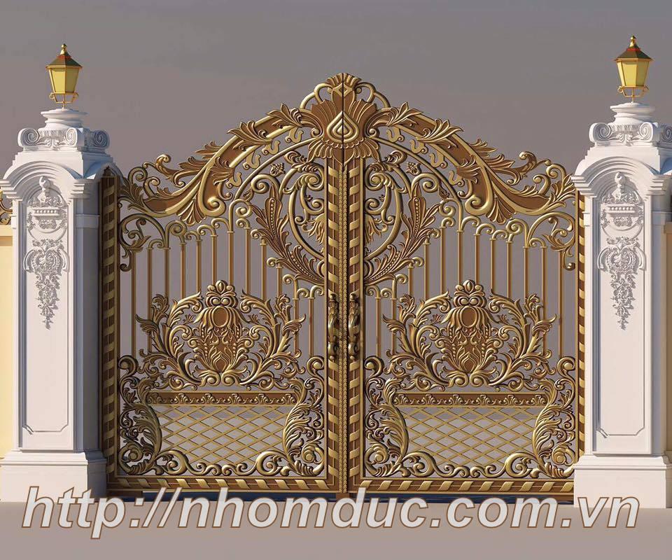 thiết kế theo yêu cầu, Cửa cổng là một bộ phận không thể thiếu của ngôi nhà, Mẫu tham khảo nhôm đúc, Cửa nhôm đúc