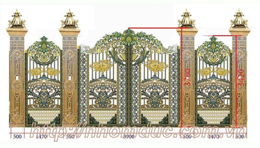 Dịch vụ thiết kế thi công, lắp đặt cổng đúc nhôm