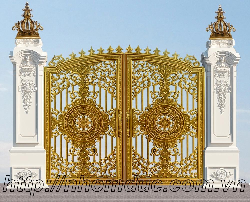 thiết kế cổng rào nhôm đúc chất lượng