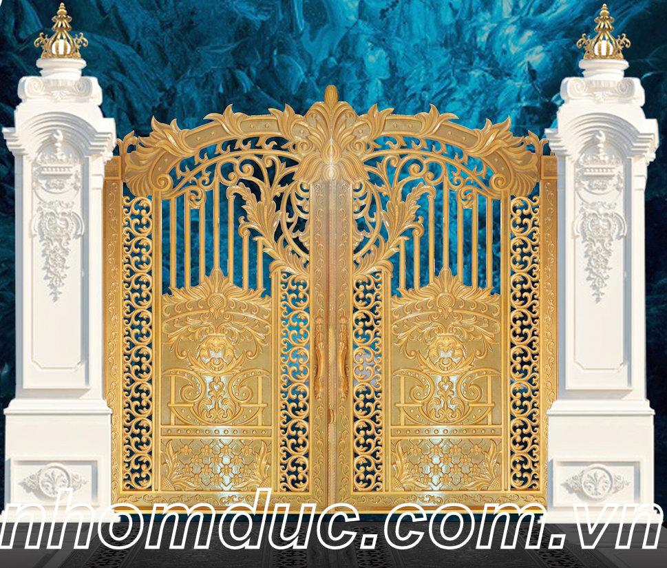 chuyên thiết kế và thi công cổng nhôm đúc, hàng rào nhôm đúc