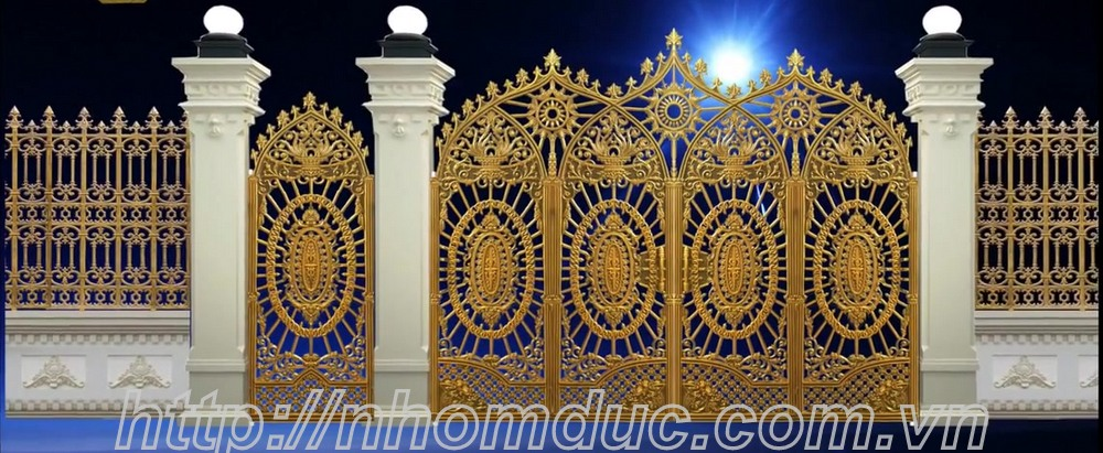 Bộ sưu tập cửa cổng nhôm đúc dành cho nhà phố, biệt thự đẹp sang