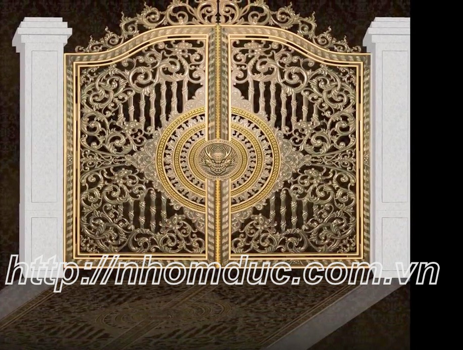 Tư vấn thiết kế mẫu cổng nhôm đúc