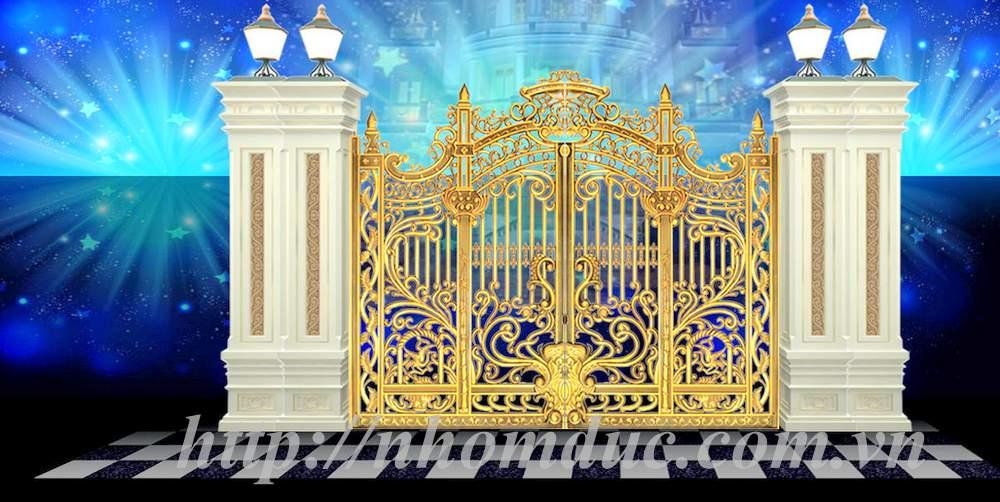 cổng nhôm đúc có thể thiết kế cổng nhà theo kích thước cổng hợp phong thủy của gia chủ. Cổng nhôm đúc đáp ứng được các yêu cầu