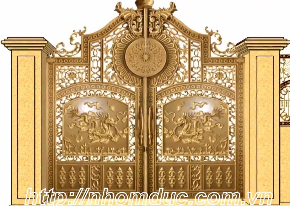 Những mẫu cổng hợp kim nhôm đúc đẹp
