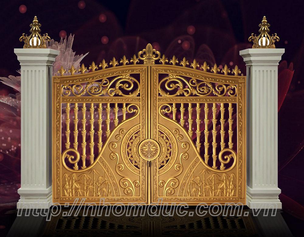 Báo giá sản xuất lắp đặt hoàn thiện cổng nhôm đúc
