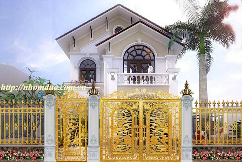 Công trình cửa cổng đúc hợp kim nhôm