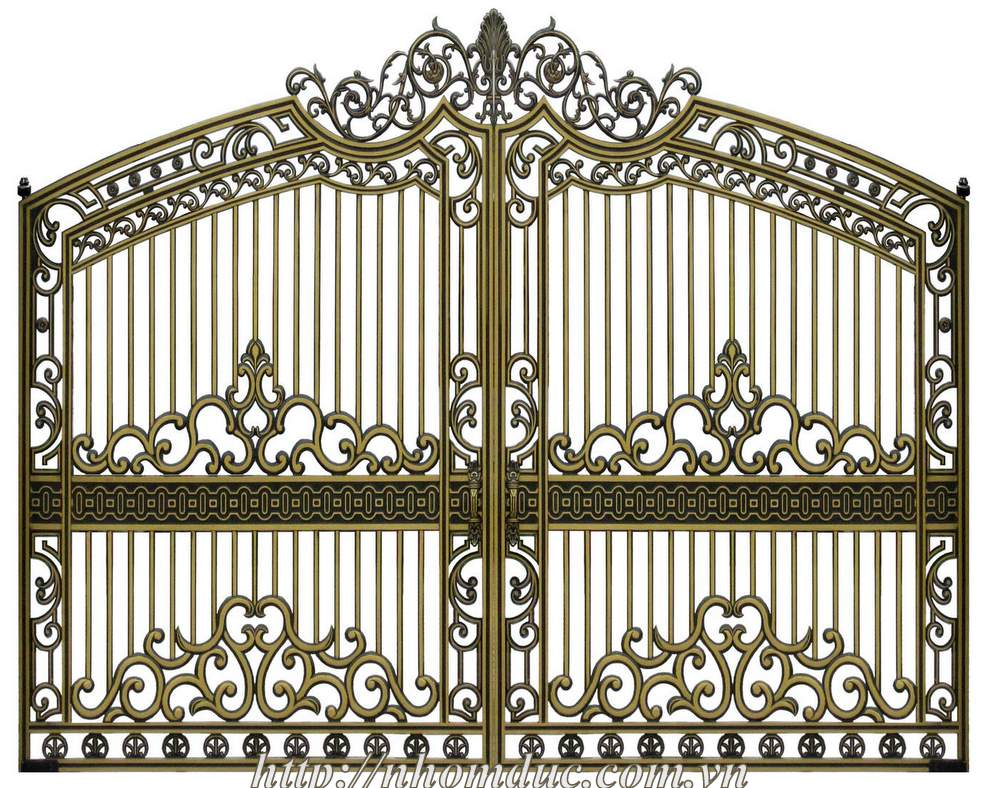 cổng nhôm đúc , cổng đúc hợp kim nhôm