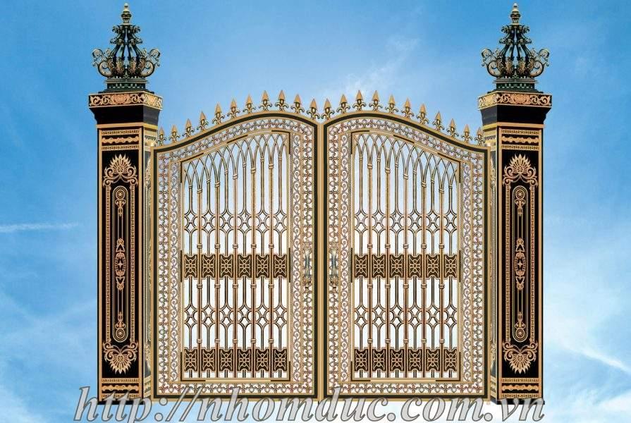 ua cong nhom duc, cửa cổng nhôm đúc, cong biet thu dep, cổng biệt thự đẹp