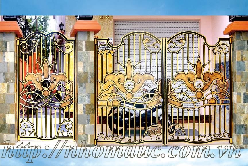 Báo giá cửa cổng đúc đặc hợp kim nhôm