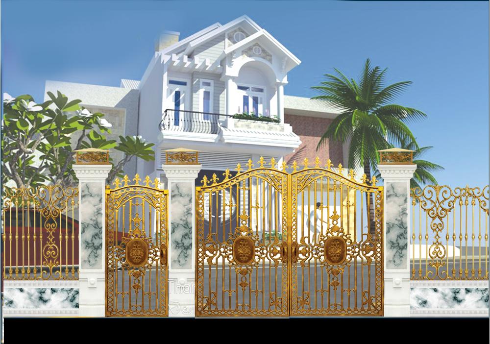 Thiết kế nhôm đúc tại Hồ Chí Minh, nhôm đúc Sài Gòn, cổng nhôm đúc, cửa nhôm đúc