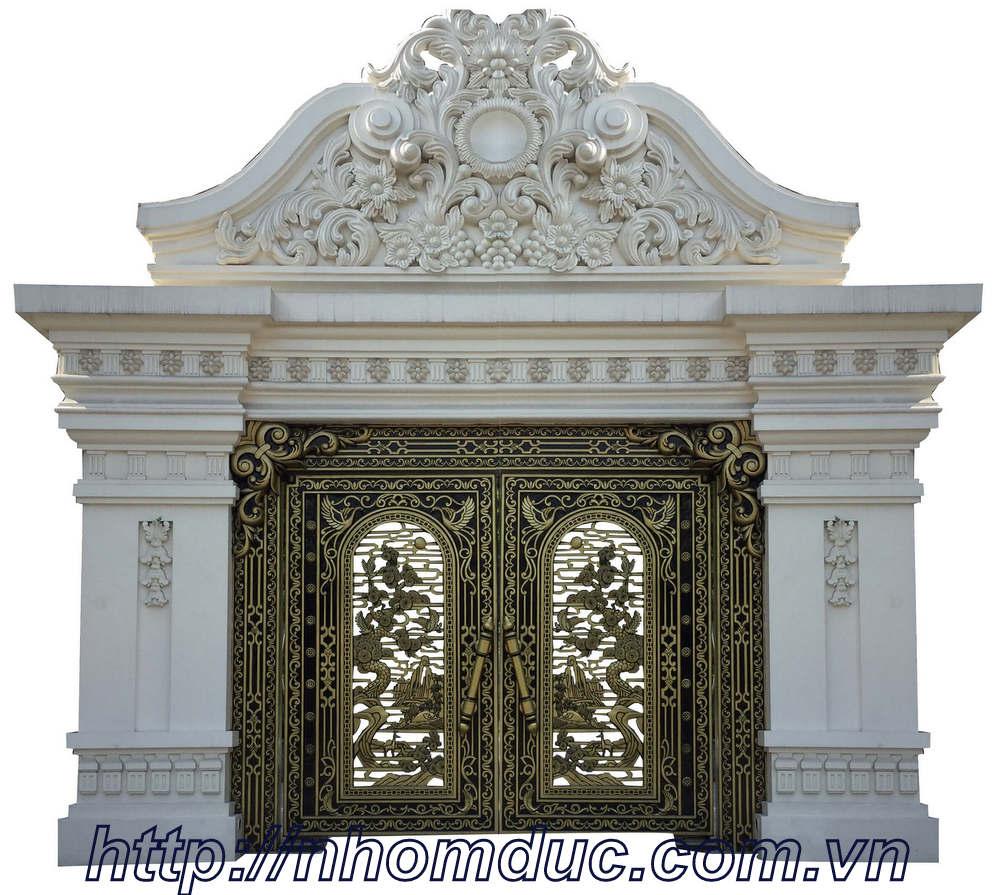 Bộ sưu tập các mẫu cổng nhôm đúc Hà Nội