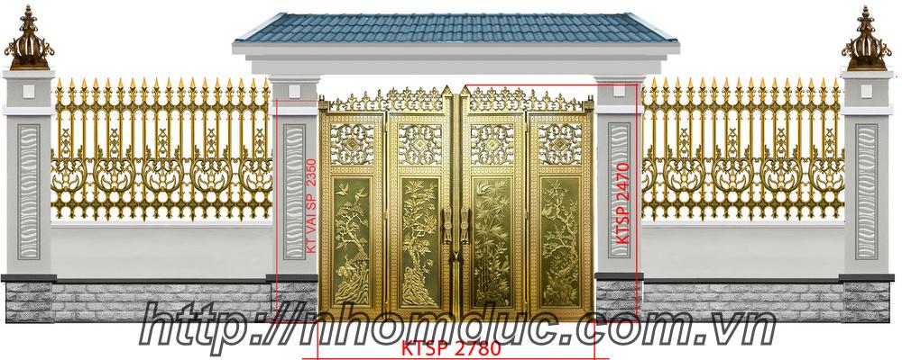Mẫu cửa cổng nhôm đúc GAT 141, Nhôm đúc Hà Nội