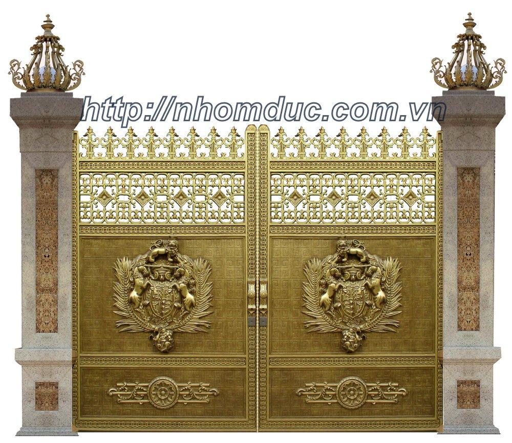 Cổng biệt thự Hà Nội, Cổng nhôm đúc