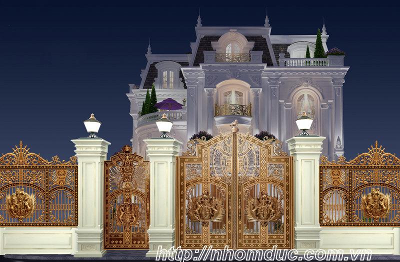 sản phẩm cửa, cổng nhôm đúc phù hợp với biệt thự và nhà có kiến trúc kiểu cổ và nhà có thiết kế đẹp.