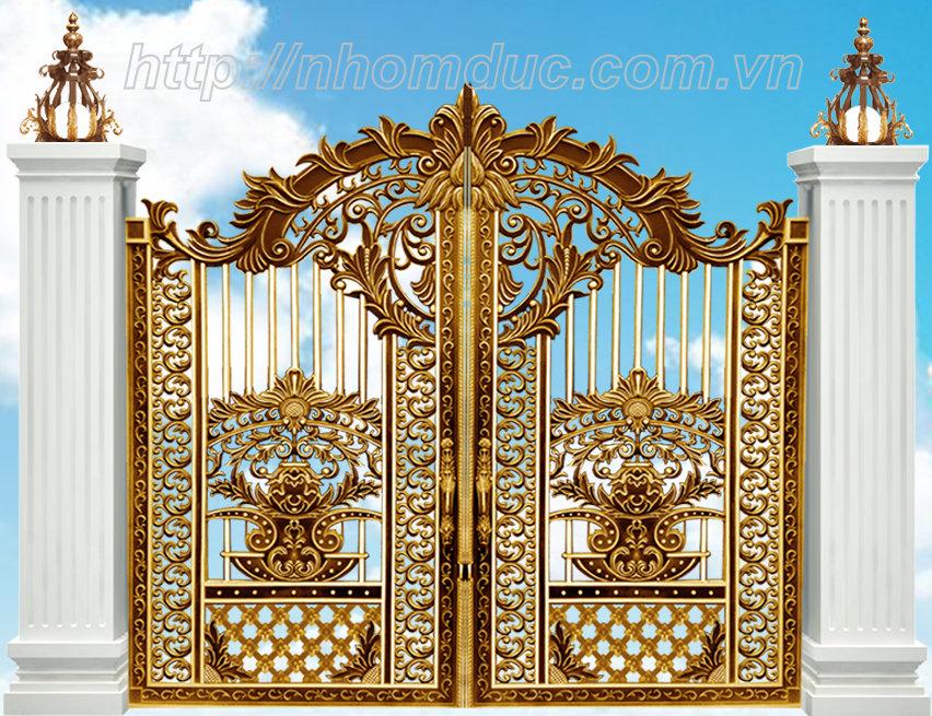 Ưu điểm vượt trội khiến bạn chon cổng nhôm đúc