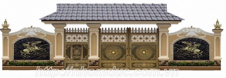 Cửa cổng đẹp và những mẫu cửa cổng nhôm đúc dành cho villa