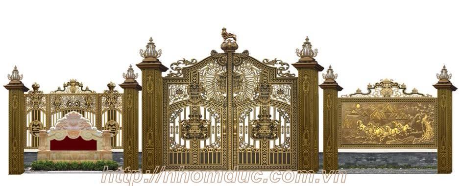 Mẫu cổng biệt thự đẹp cổng nhôm đúc đẹp