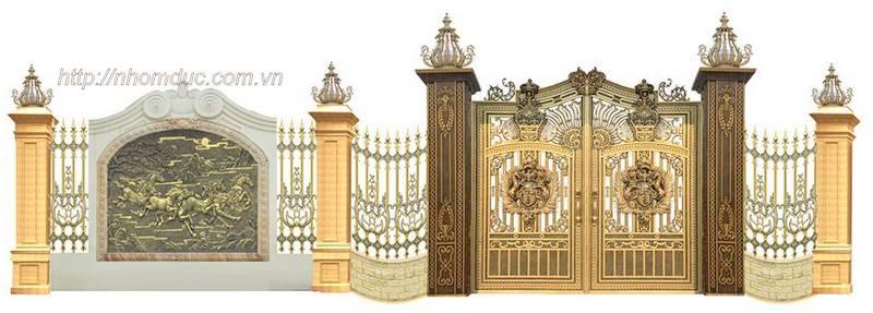 Thiết kế nhôm đúc tại Hà Nội, nhôm đúc Hà Nội, Cổng cửa nhôm đúc Hà Nội
