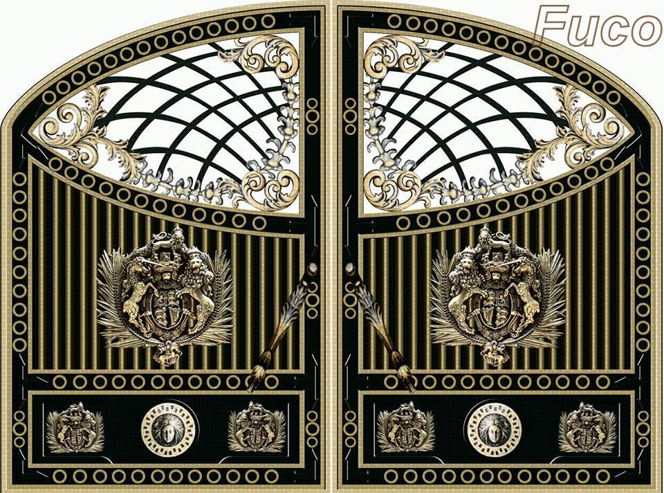 Thiết kế nhôm đúc tại Hà Nội, Cổng nhôm đúc