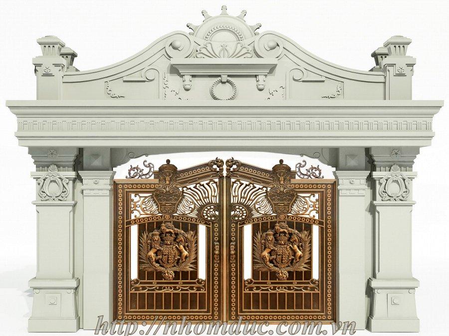 Mẫu cổng biệt thự, lâu đài cổ điển