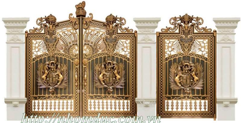 Một chiếc cổng biệt thự đẹp với thiết kế đơn giản hoặc cách điệu với nhiều chi tiết lượn sóng