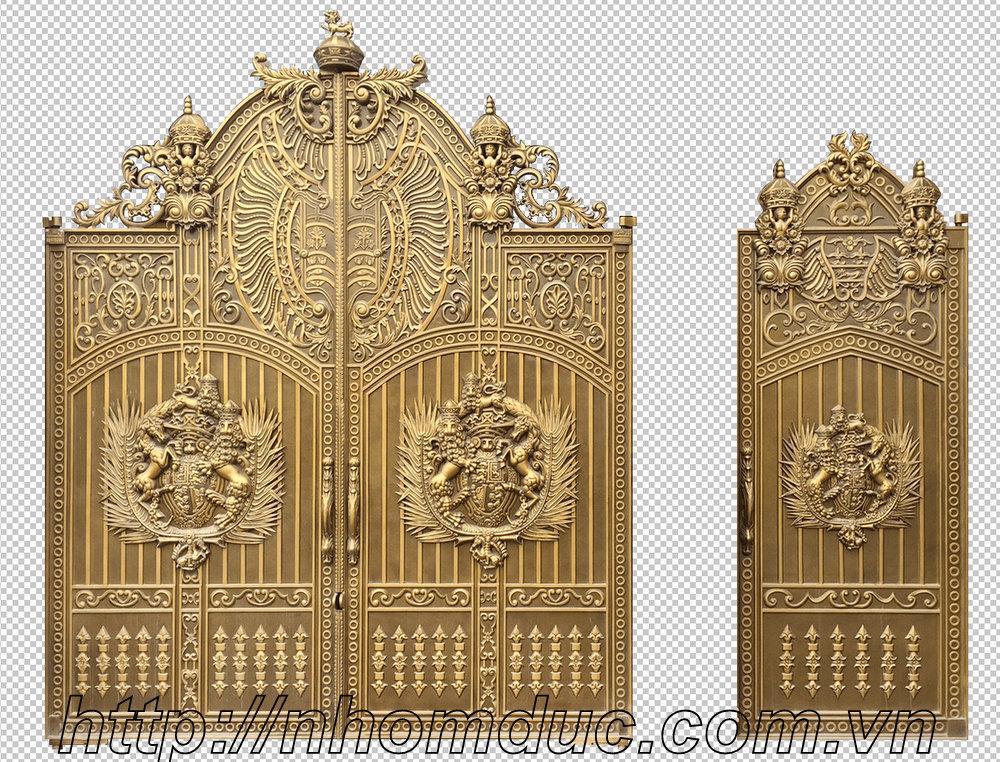 Các mẫu cổng biệt thự cổng nhôm đúc