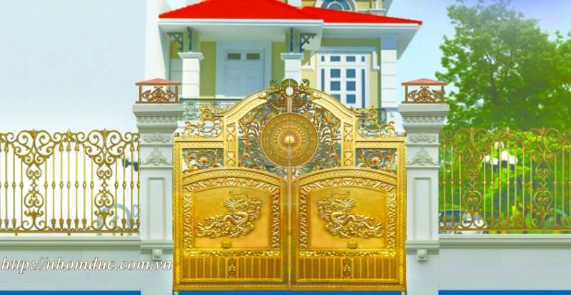Cổng biệt thự hiện đại, Cổng nhôm đúc